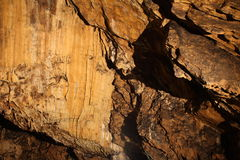 Rochas dentro da caverna fotografia de stock