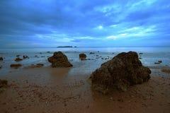 Rochas do céu do mar Imagem de Stock Royalty Free