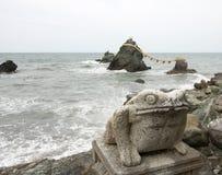 Rochas do casal, Mie Prefecture, Japão Fotografia de Stock