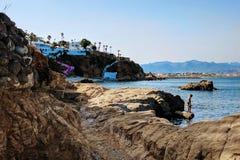Rochas do negro de Cabo fotos de stock royalty free