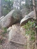 Rochas do parque nacional da angra da pista Fotografia de Stock Royalty Free