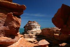 Rochas do ponto de Gantheum - Broome Fotografia de Stock