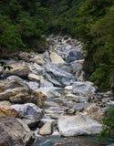 Rochas do rio do desfiladeiro de Taroko Fotos de Stock