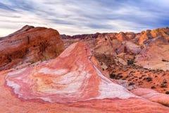 Rochas do Sandstone do deserto de Mojave no nascer do sol fotos de stock royalty free