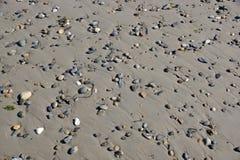 Rochas do seixo na areia Foto de Stock