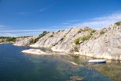 Rochas do Skerry de Flatön, Suécia Foto de Stock Royalty Free