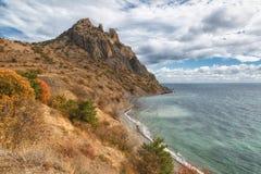 Rochas do vulcão extinto Karadag Imagens de Stock
