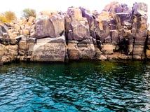 Rochas e água Fotografia de Stock
