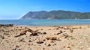 Rochas e areia Fotografia de Stock