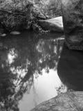 Rochas e lagoa Foto de Stock Royalty Free