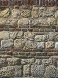Rochas e parede de tijolos Foto de Stock Royalty Free