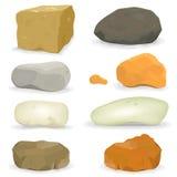 Rochas e pedras ajustadas Fotografia de Stock
