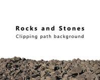 Rochas e pedras isoladas Fotografia de Stock Royalty Free