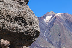 Rochas e Pico del Teide Imagens de Stock Royalty Free