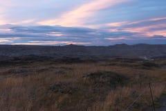Rochas e plano perto da cachoeira de Dettifoss Foto de Stock Royalty Free