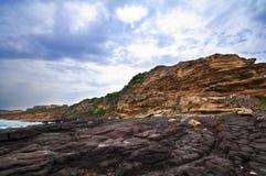 Rochas e recifes no golfo de Asinara Fotografia de Stock Royalty Free
