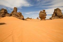 Rochas em Akakus, Líbia Foto de Stock Royalty Free