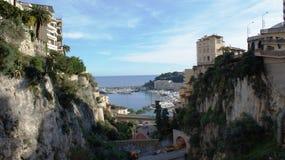 Rochas em Mônaco, Monte - Carlo Foto de Stock Royalty Free