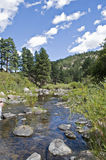 Rochas em um rio do enrolamento Imagens de Stock Royalty Free