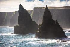 Rochas empilhadas, Escócia do norte Imagens de Stock