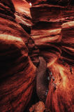 Rochas gigantes na garganta vermelha nas montanhas de Eilat, Israel fotos de stock royalty free