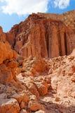 Rochas majestosas das colunas de Amram no deserto Fotos de Stock Royalty Free