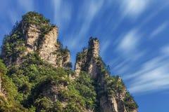 Rochas majestosas Zhangjiajie Fotografia de Stock Royalty Free
