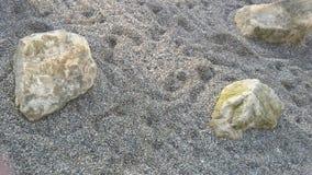 Rochas na areia Fotos de Stock