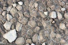 Rochas na argila secada Imagens de Stock