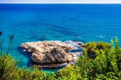 Rochas na costa Foto de Stock
