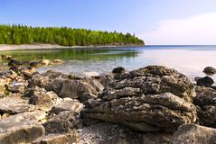 Rochas na costa do louro Georgian fotos de stock royalty free