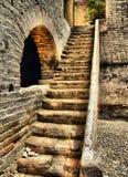 Rochas na escada Fotografia de Stock