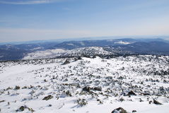 Rochas na montanha de Mustag fotografia de stock royalty free
