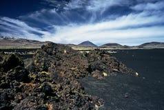 Rochas na paisagem vulcânica em Argentina, Argentina fotografia de stock