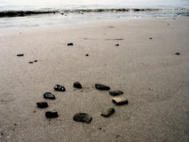 Rochas na praia foto de stock