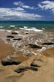 Rochas na praia Imagem de Stock
