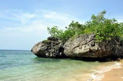 Rochas na praia Fotografia de Stock