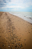 Rochas na praia do Lago Michigan Imagens de Stock