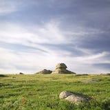 Rochas nas montanhas altas Fotografia de Stock