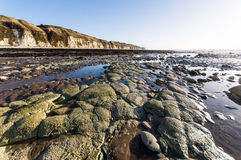 rochas no dique dos dinamarqueses Foto de Stock
