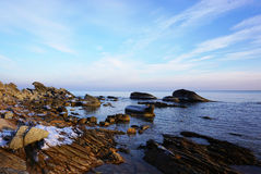 Rochas no mar Imagens de Stock Royalty Free