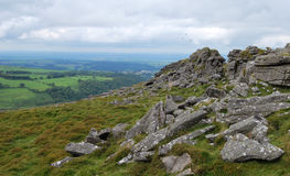 Rochas no parque nacional de Dartmoor fotografia de stock royalty free