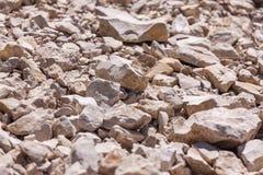 Rochas, rochas pequenas ou cascalho usadas para a construção das construções, Imagens de Stock Royalty Free