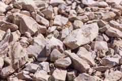 Rochas, rochas pequenas ou cascalho usadas para a construção das construções, Fotografia de Stock Royalty Free