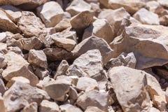 Rochas, rochas pequenas ou cascalho usadas para a construção das construções, Fotos de Stock Royalty Free