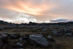 Rochas perto da cachoeira de Dettifoss Imagem de Stock