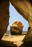 rochas praia da Стоковое Изображение RF