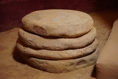 Rochas redondas no monumento nacional das ruínas astecas foto de stock