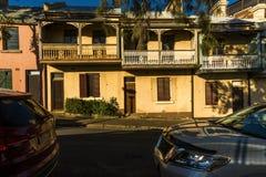 Rochas Sydney das casas de campo dos trabalhadores foto de stock royalty free
