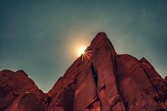 Rochas vermelhas, arcos parque nacional, Moab, Utá imagens de stock royalty free